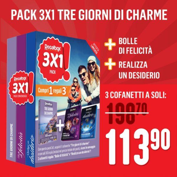 PACK 3x1 - Tre giorni di charme - FontanaFontana